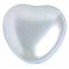 Glass Pearls Hearts 8/8mm Blue Pearl - Loose